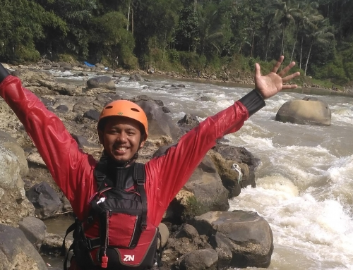 Young white water kayaker joined the team